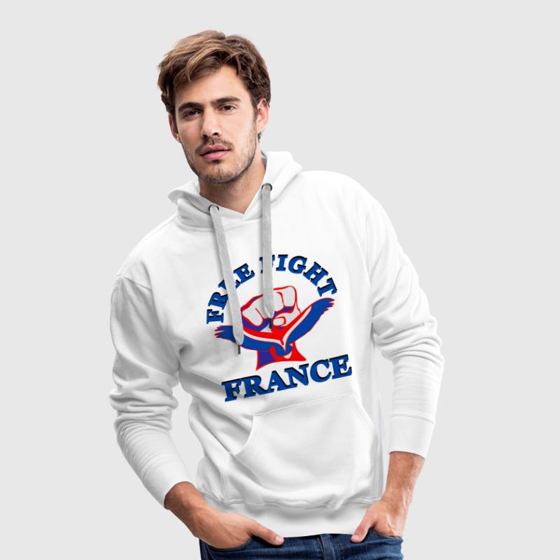 Free Fight France. MMA Sweat-shirts - Sweat-shirt à capuche Premium pour hommes