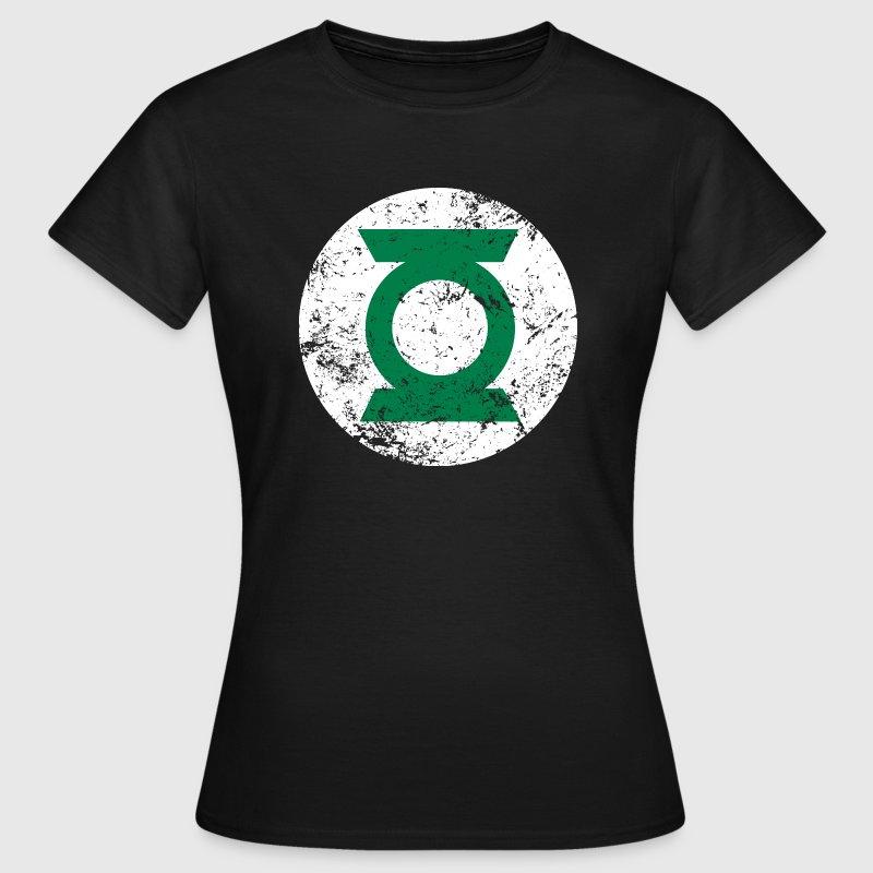 green lantern logo t shirt f r frauen t shirt spreadshirt. Black Bedroom Furniture Sets. Home Design Ideas