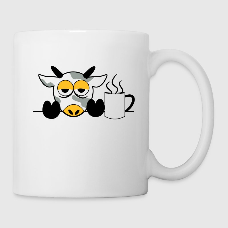 Mr. moo cow yawn tired Monday cows 3 c. Bottles & Mugs - Mug
