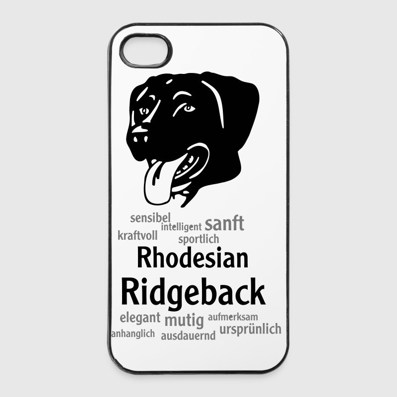 Rhodesian Ridgeback Kopf mit Worten Handy & Tablet Hüllen - iPhone 4/4s Hard Case