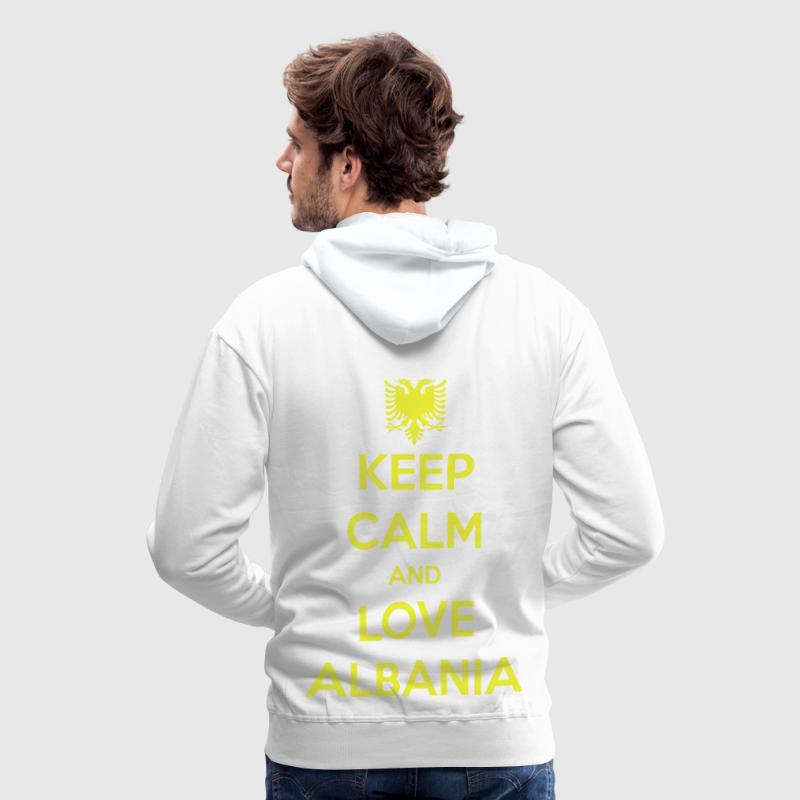 KEEP CALM AND LOVE ALBANIA Pullover & Hoodies - Männer Premium Hoodie