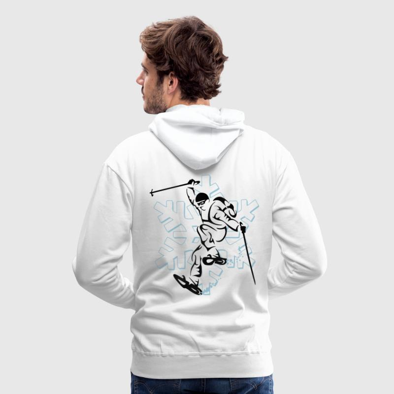 Snowshoe Raid Sweat-shirts - Sweat-shirt à capuche Premium pour hommes