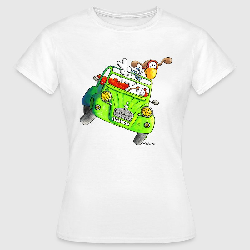 Eend - Auto - Oldtimer - duck-car - vintage T-shirts - Vrouwen T-shirt