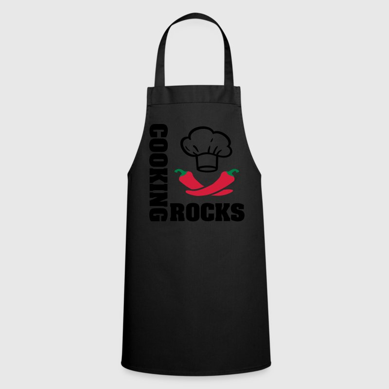 Cooking rocks. Cook, chef, rock 'n' roll music  Aprons - Cooking Apron