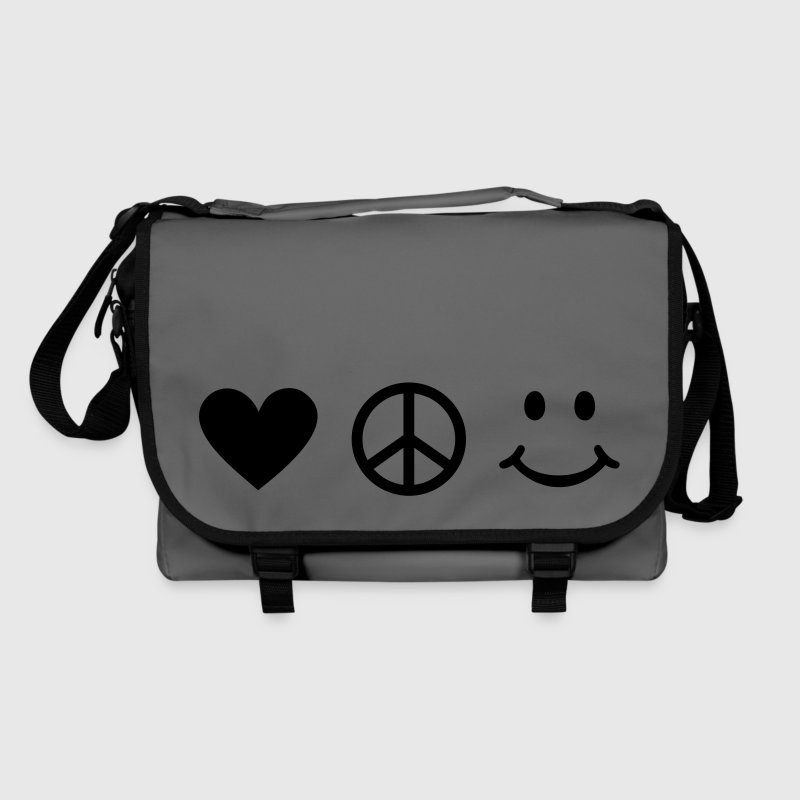 BE HAPPY - Love Heart Peace Sign Smiley Happiness Bags  - Shoulder Bag