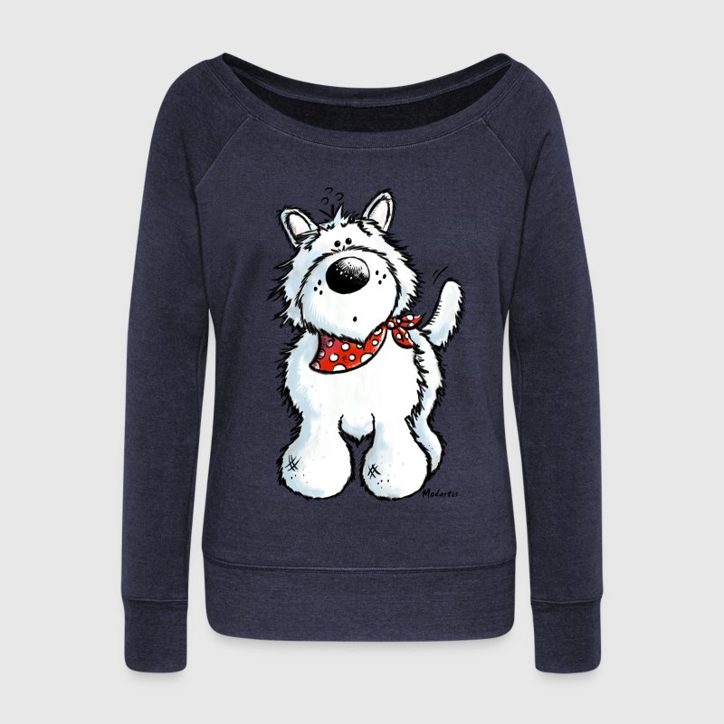West Highland White Terrier - Westie – Dog Hoodies & Sweatshirts - Women's Boat Neck Long Sleeve Top