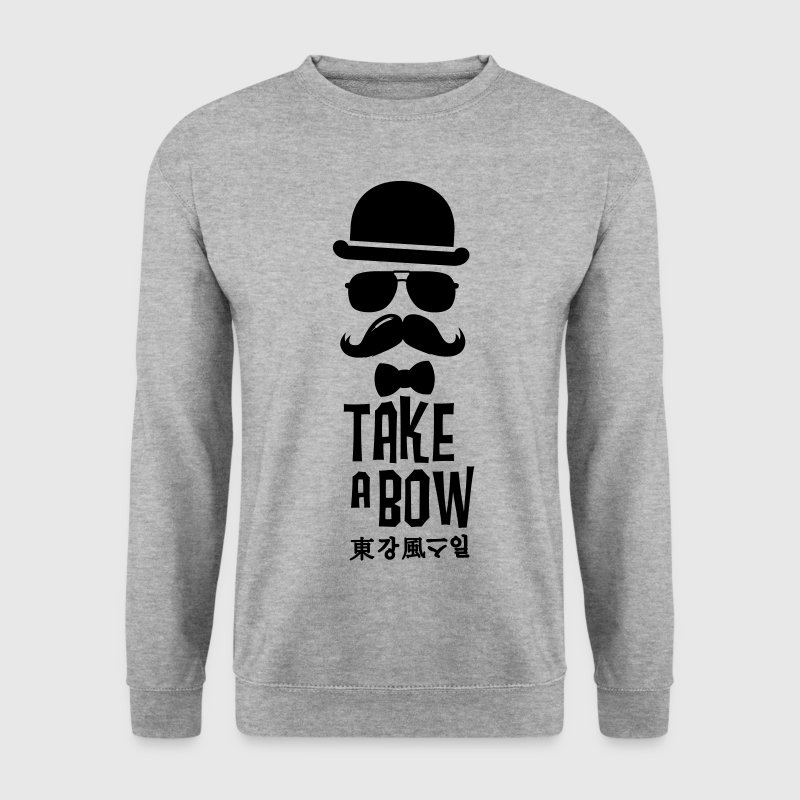 Like a swag bow tie moustache style boss t-shirts Sweat-shirts - Sweat-shirt Homme