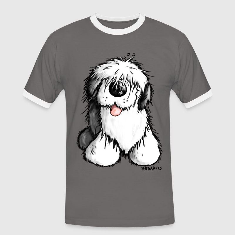 Bobtail hond komisch– Old English Sheepdog T-shirts - Mannen contrastshirt
