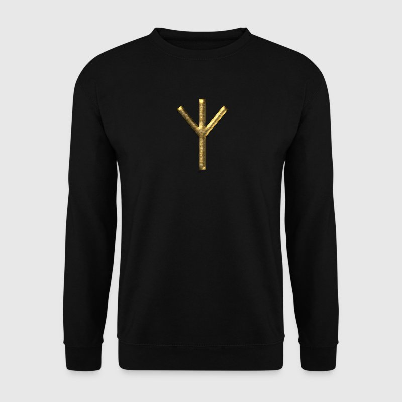 Algiz Rune - Connection with Asgard / Protection I Sweatshirts - Herre sweater