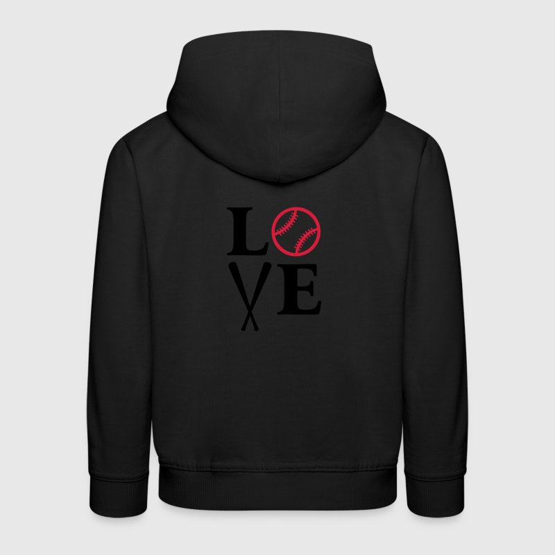 I love baseball. baseball ball  bat bats game  Hoodies - Kids' Premium Hoodie