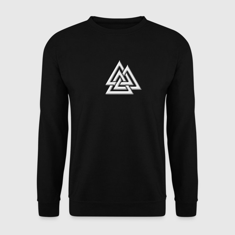 Valknut, Wotan's Knot, Walknot, Odin, Valhalla Sweat-shirts - Sweat-shirt Homme