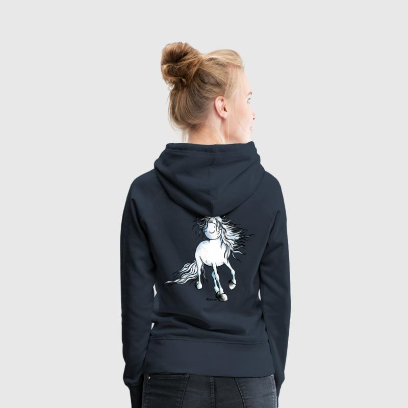 White Beauty - Pferd - Andalusier Pullover & Hoodies - Frauen Premium Hoodie