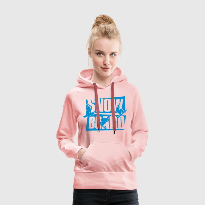 Snowboard Sweat-shirts - Sweat-shirt à capuche Premium pour femmes