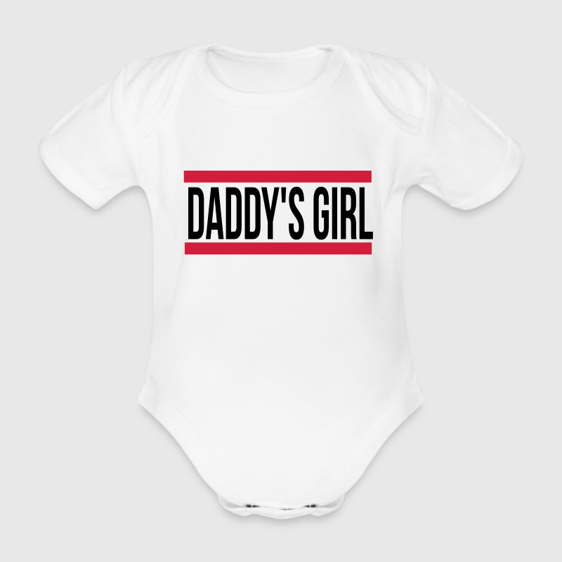 daddy s girl - Baby Bio-Kurzarm-Body