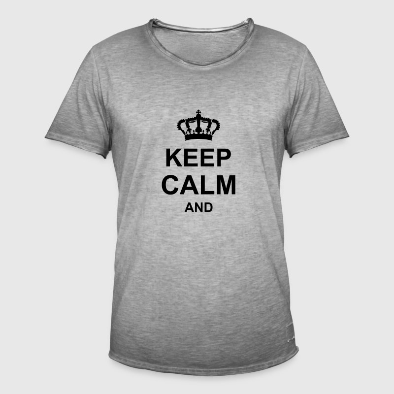 keep_calm_and_g1 Shirts - Men's Vintage T-Shirt