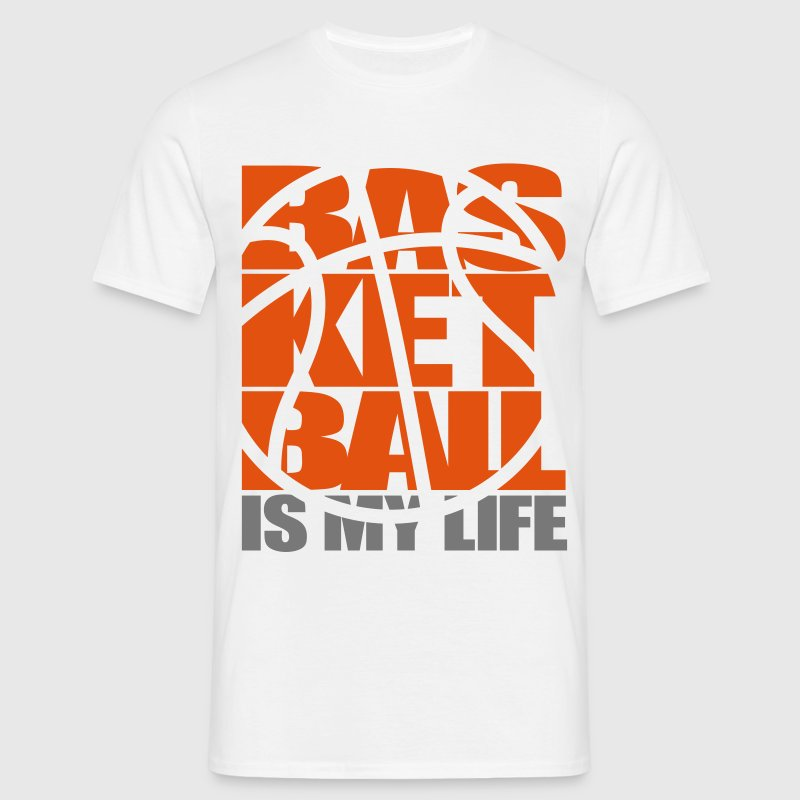 Basketball is my Life.   Tee shirts - T-shirt Homme