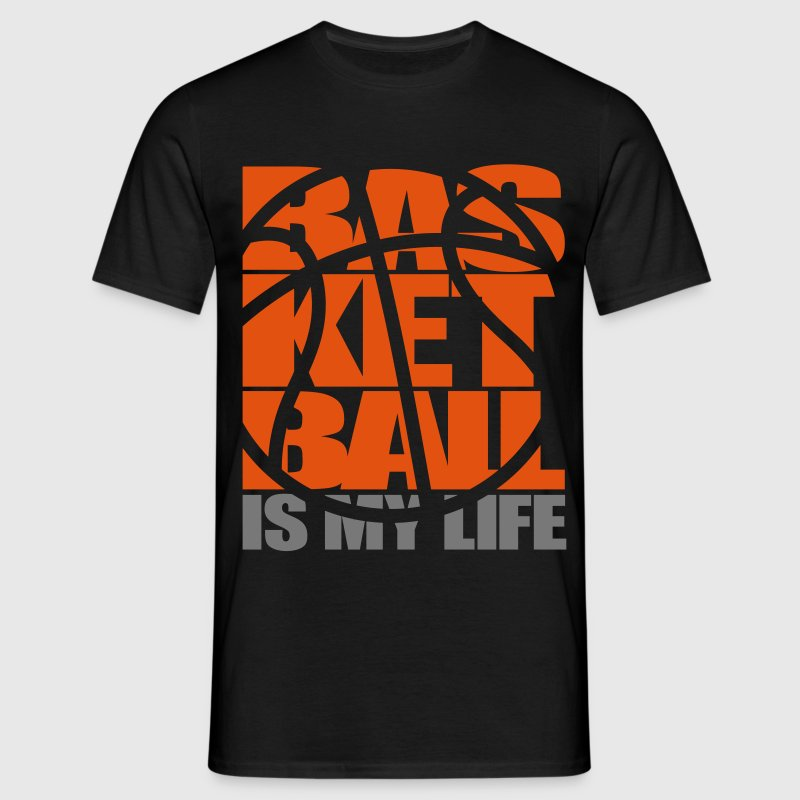 Basketball is my Life.  T-Shirts - Men's T-Shirt