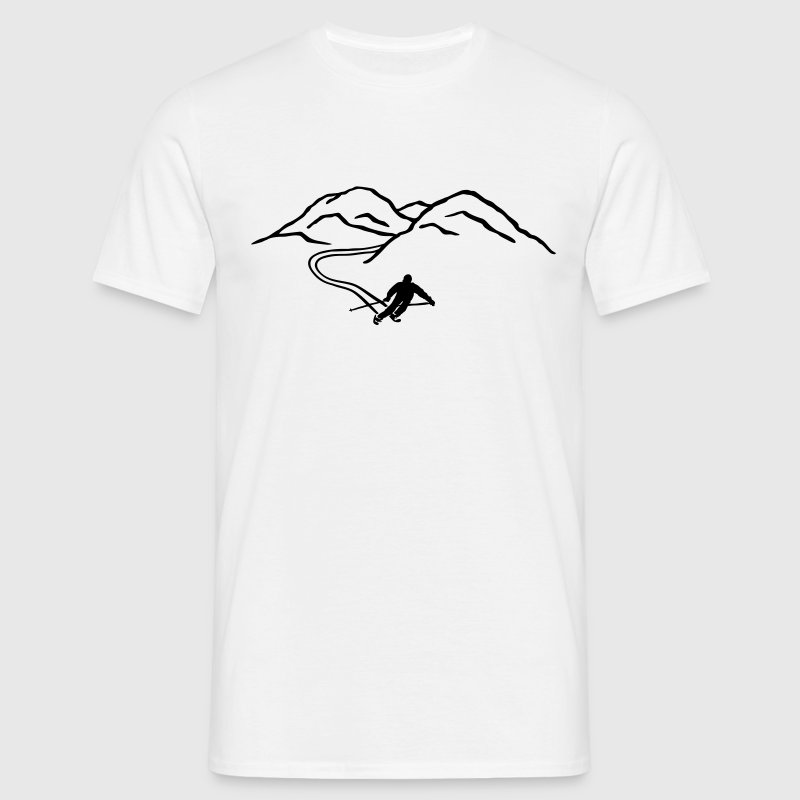 Ski Skiing, mountains,  winter sports mountains T-Shirts - Men's T-Shirt