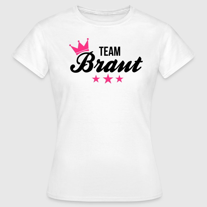 Junggesellinnenabschied team braut t shirt spreadshirt for Junggesellinnenabschied t shirt sprüche
