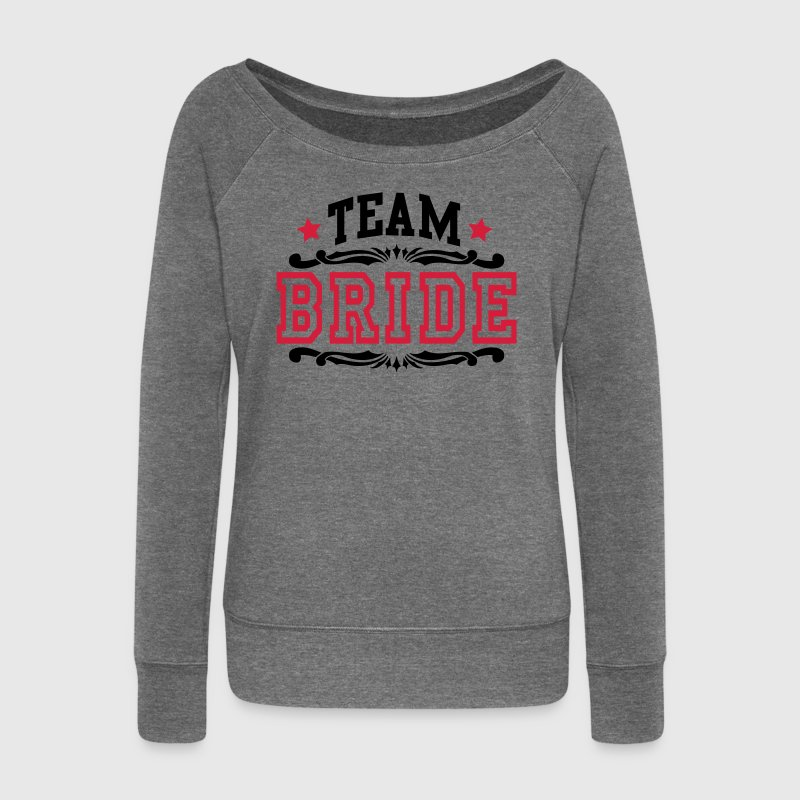 team bride Sweat-shirts - Pull Femme col bateau de Bella