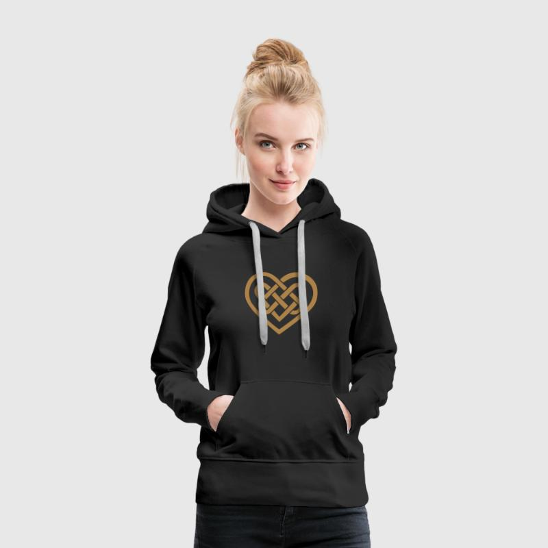 Celtic heart, symbol - infinite love & loyalty Hoo - Women's Premium Hoodie