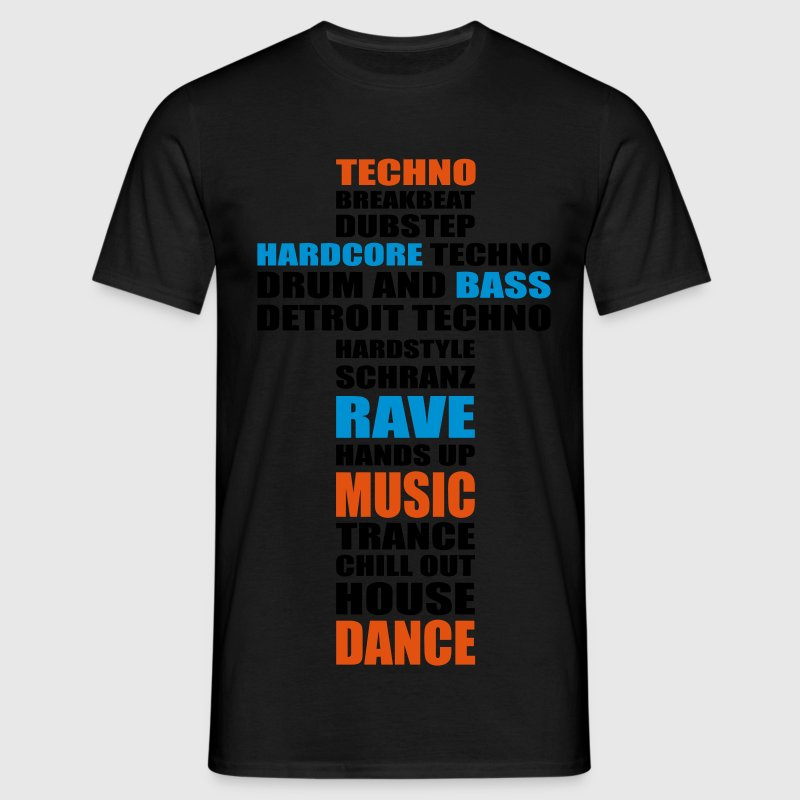 Techno Dance Music House Rave Drum Beat Bass T-Shirts - Männer T-Shirt