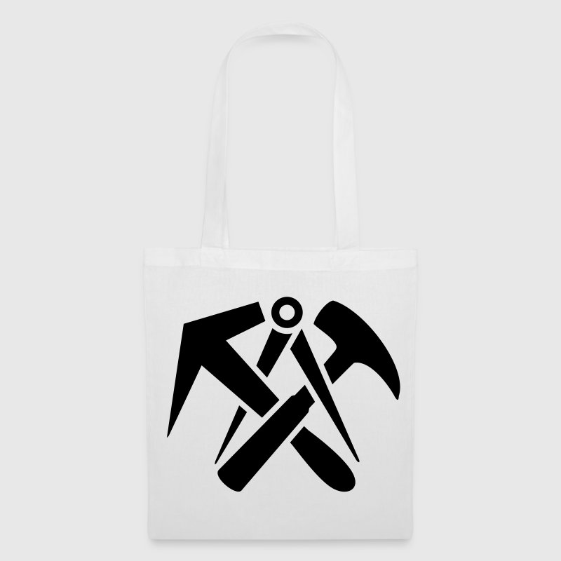 Roofers guild signs hammer tool logo Bags  - Tote Bag