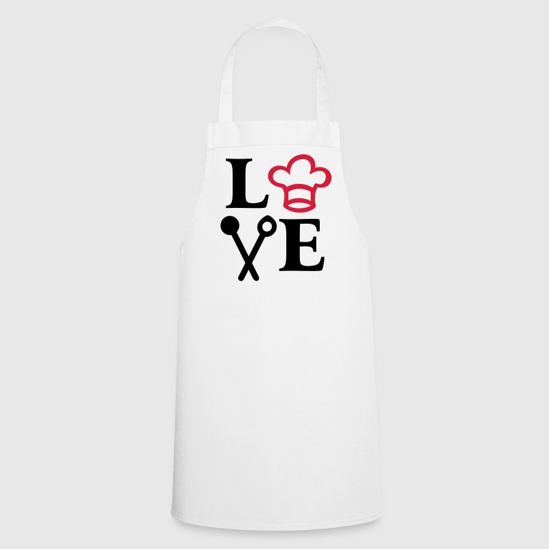 I lOVE cooking. chef's Hat spoon cook chef  Aprons - Cooking Apron