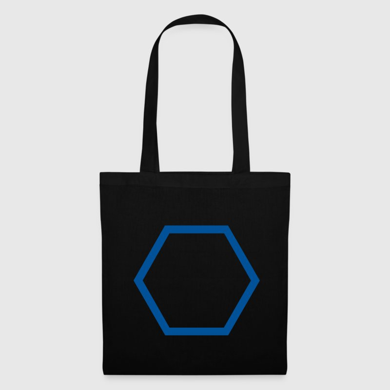 Black Hexagon Outline Bags  - Tote Bag
