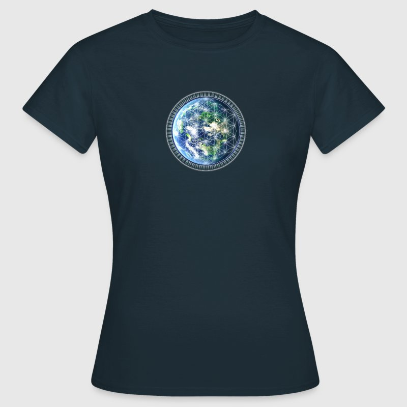Gaia Flower of Life / Earth / Symbol Creation / T- - Women's T-Shirt