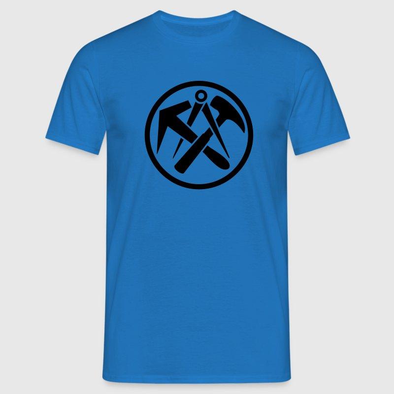 Dachdecker symbol  Dachdecker Zunftwappen Zunft zeichen T-Shirt | Spreadshirt