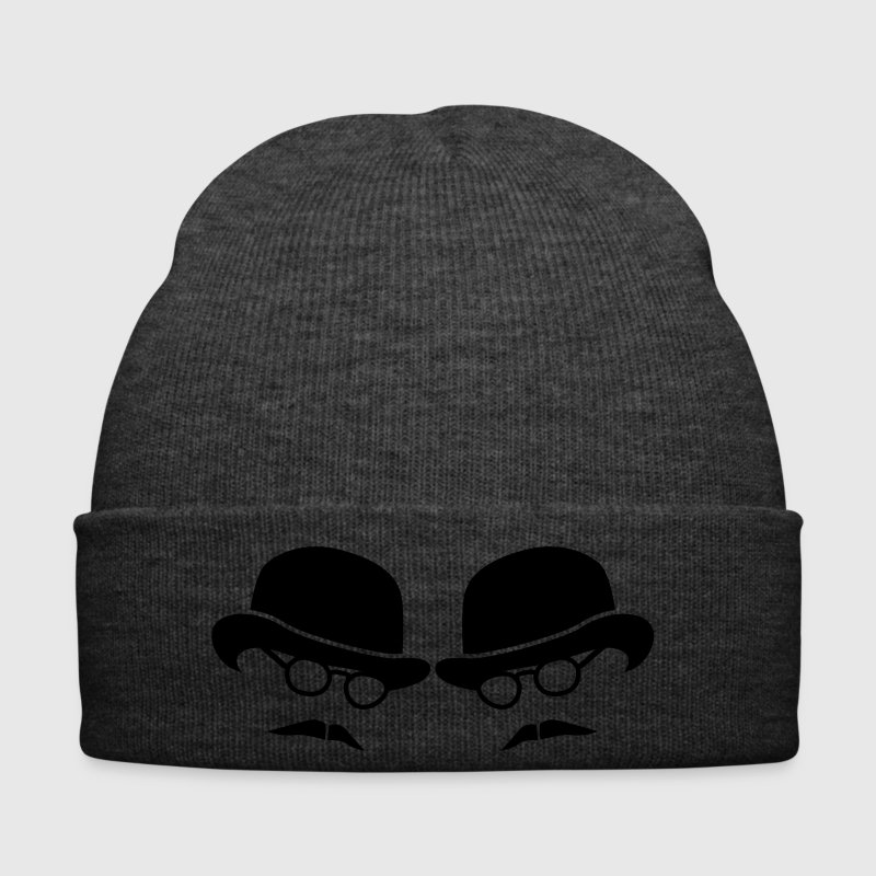 two men on bowler hats with glasses and moustaches Caps & Hats - Winter Hat