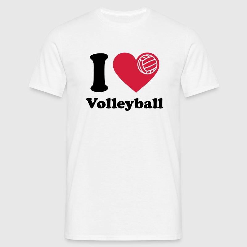Camiseta i love volleyball me encanta el voleibol spreadshirt - Volleyball geschenke ...