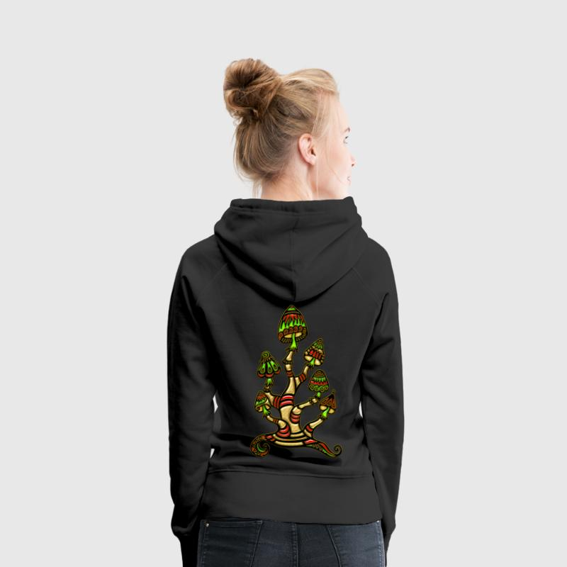 Magic mushrooms, psychedelische Pilze, Wunderland Sweat-shirts - Sweat-shirt à capuche Premium pour femmes