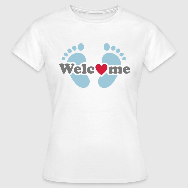 Welcome Me! Baby on board feet pregnancy T-Shirts - Women's T-Shirt