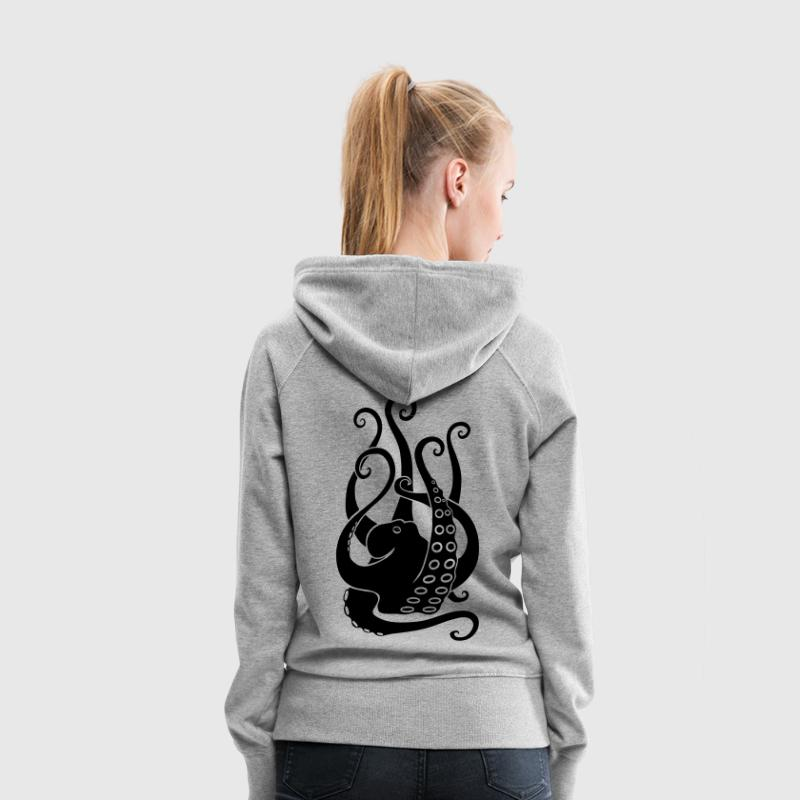 octopus squid cuttlefish  scuba diving diver Hoodies & Sweatshirts - Women's Premium Hoodie