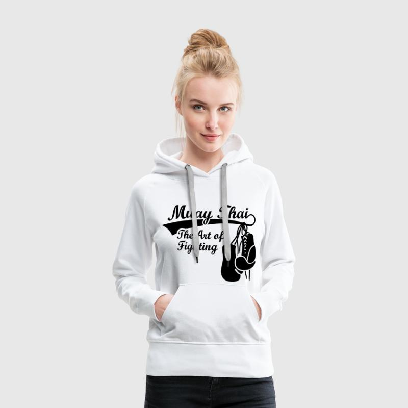 Muay Thai - The Art of Fighting Thaiboxen Pullover & Hoodies - Frauen Premium Hoodie