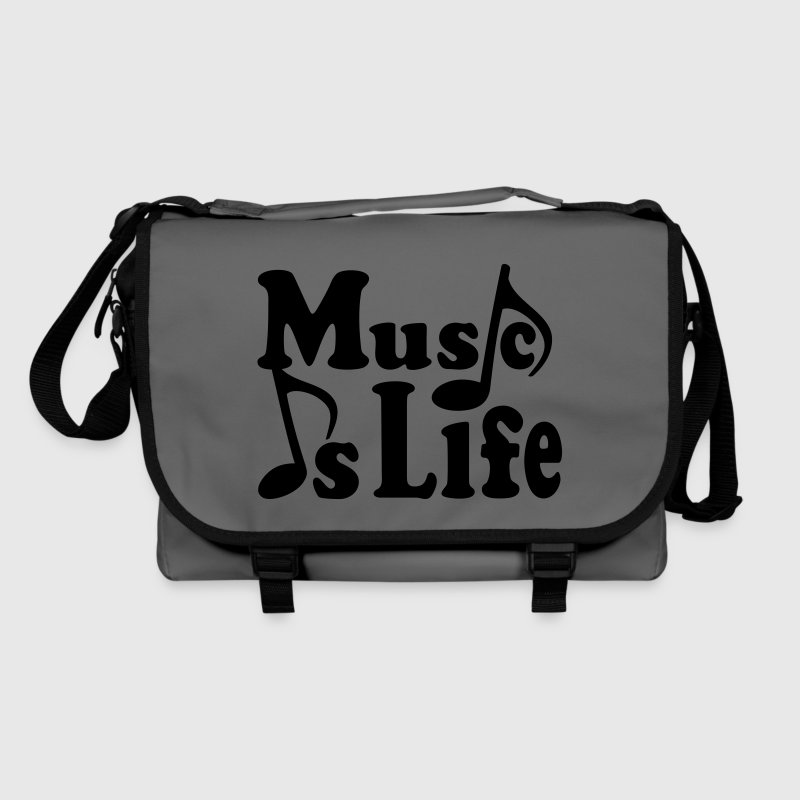 Music is Life. Muziek noten. Muziek muzikant.  Tassen - Schoudertas