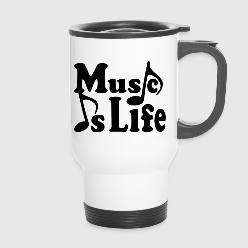 Music is Life.  Noter. Musik musiker. Singer Flaskor & muggar - Termosmugg