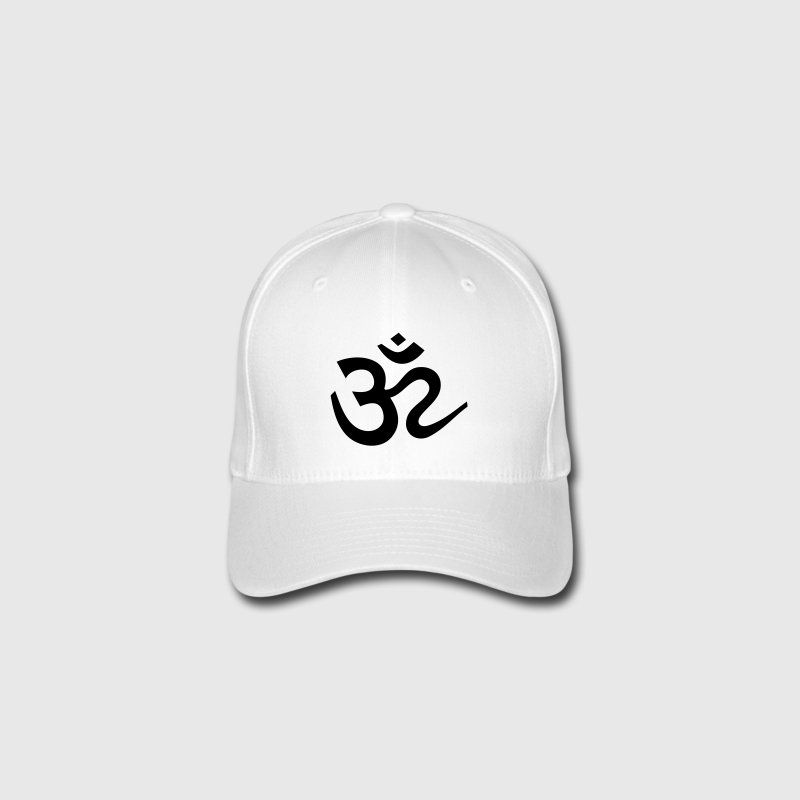 OM Sign Sanskrit Shiva Symbol  Caps & Hats - Flexfit Baseball Cap
