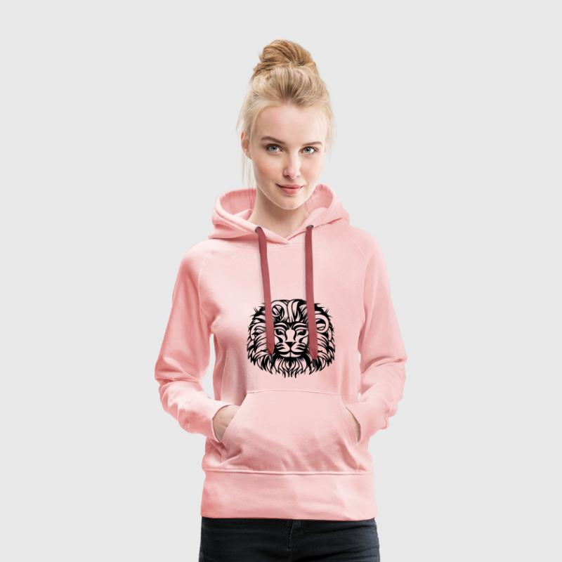 Lion's head with a proud lion's mane Hoodies & Sweatshirts - Women's Premium Hoodie
