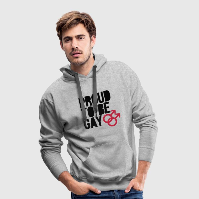 Proud to be gay Pullover & Hoodies - Männer Premium Hoodie