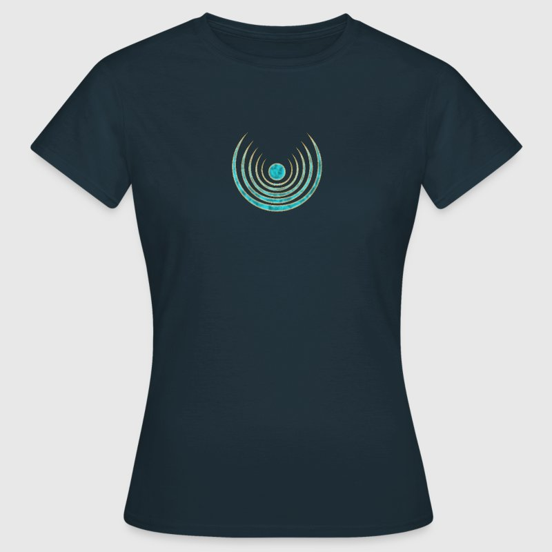 Moon amulet Blue Moon - intuition, creativity and media skills, digital, protection symbol T-Shirts - Women's T-Shirt
