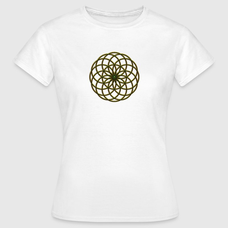 FEEL THE FORCE! Seed of Life - Tube Torus, digital, gold, energy, symbol, protection, powerful, icon Mugs  - Women's T-Shirt