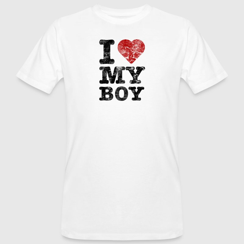 I Love my Boy vintage dark T-shirts - Organic mænd