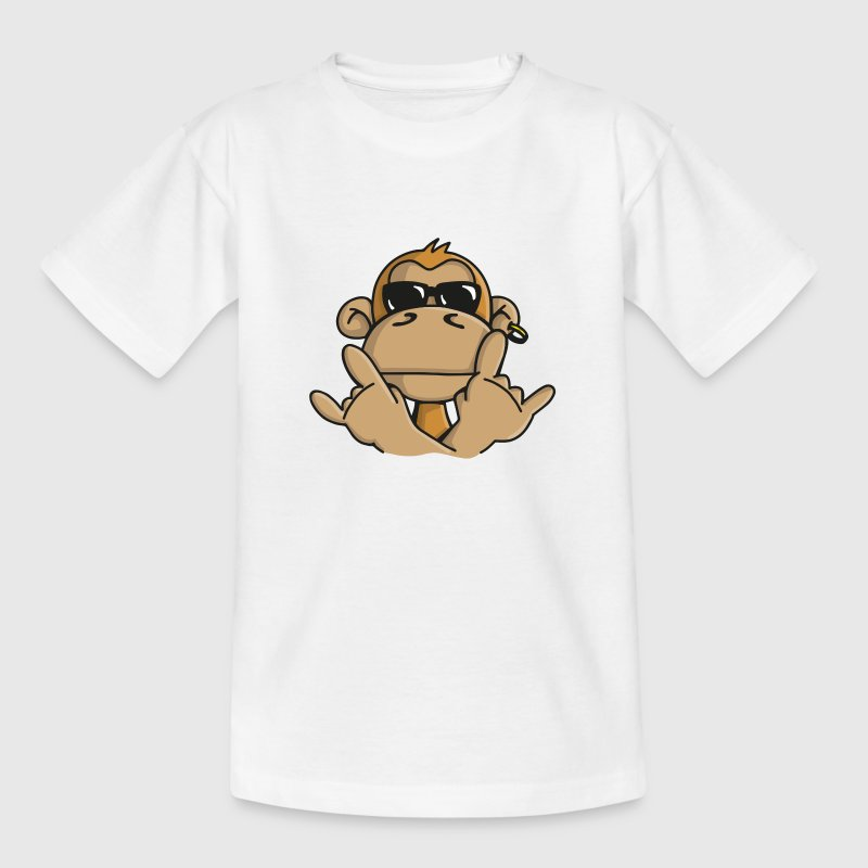 Cool monkey with sunglasses Shirts - Kids' T-Shirt