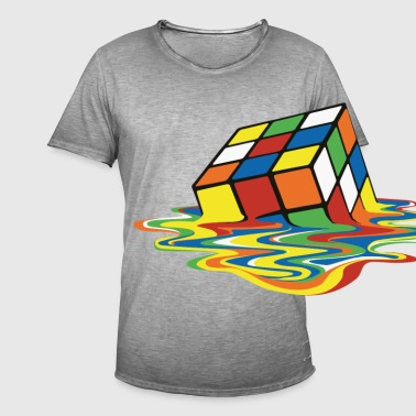 Rubik's Melting Cube - Men's Vintage T-Shirt