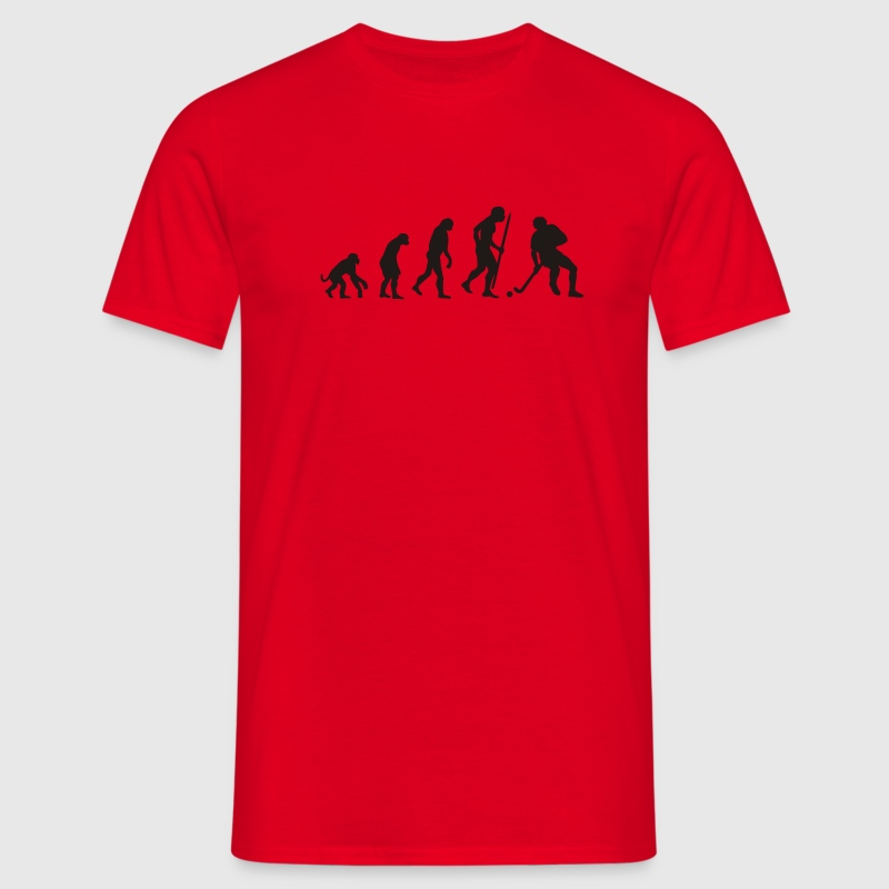 Red Evolution of field hockey Men's Tees - Men's T-Shirt