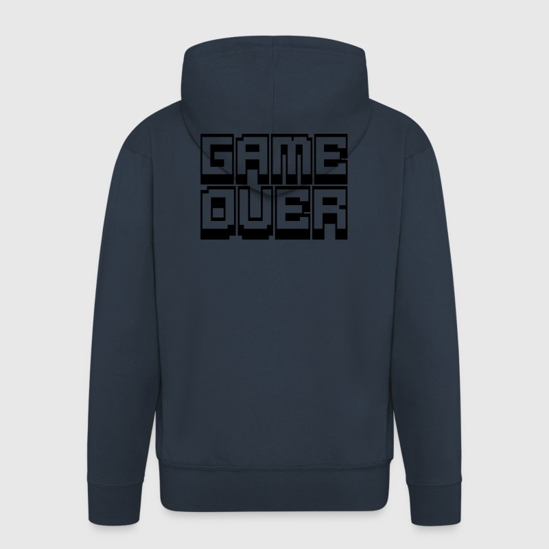 game over Felpe - Felpa con zip Premium da uomo