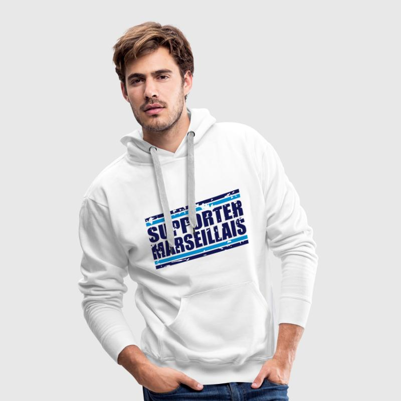 Supporter marseillais vintage Sweat-shirts - Sweat-shirt à capuche Premium pour hommes